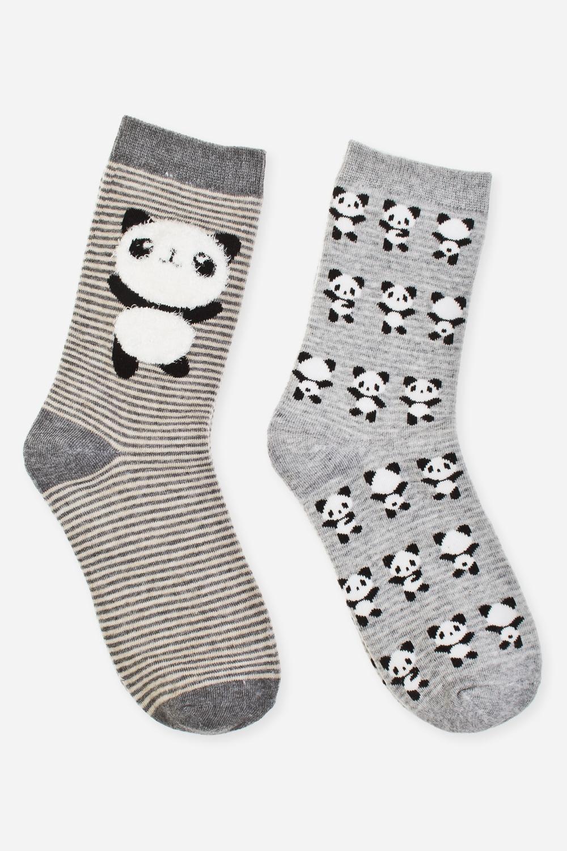 Набор носков женских ПандисНабор носков (2 пары) с объемным декором. Состав: 72% хлопок, 26% полиэстер, 2% эластан. Размер 39-41<br>