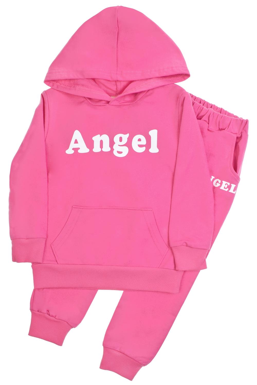 Толстовка со штанами детская АнгелочекПодарки<br>Материал: 100% хлопок. Костюм состоит из штанов и толстовки. На спинке толстовка декорирована объемными крыльями. Размер: до 90см.<br>