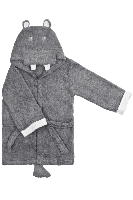 Халат-полотенце детский ХиппоПодарки детям<br>Материал: 100% хлопок. Размер халата подойдет ребенку от 5 до 6 лет. Длина по спинке 62см.<br>