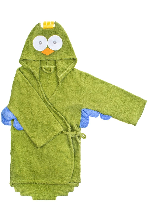 Халат-полотенце детский СовикПодарки детям<br>Материал: 100% хлопок. Размер халата подойдет ребенку от 5 до 6 лет. Длина по спинке 66см.<br>