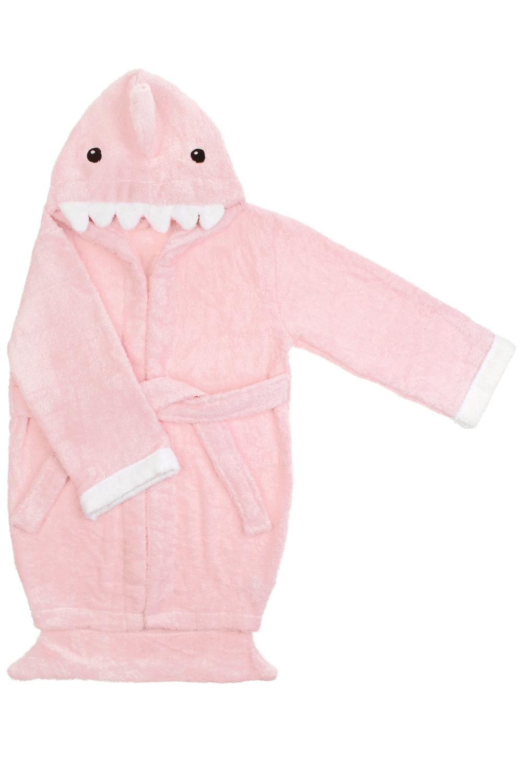 Халат-полотенце детский АкуленокПодарки<br>Материал: 100% хлопок. Размер халата подойдет ребенку от 5 до 6 лет. Длина по спинке 66см.<br>