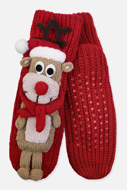 Носки домашние Рождественский оленьНоски домашние. Материал: 100% акрил. Подошва с резиновыми вставками<br>