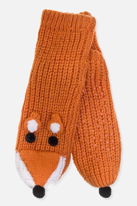Носки домашние ЛисичкаМатериал: 100% акрил. Подошва с резиновыми вставками<br>