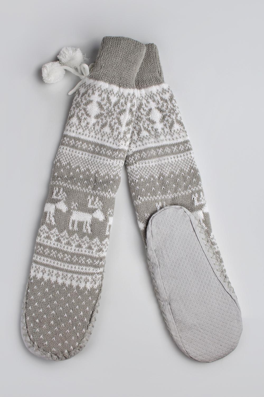 Носки домашние Скандинавик-2Носки домашние. Состав: 100 % акрил. Подошва - искусственная замша с резиновыми вставками. Размер: S (35-36)<br>