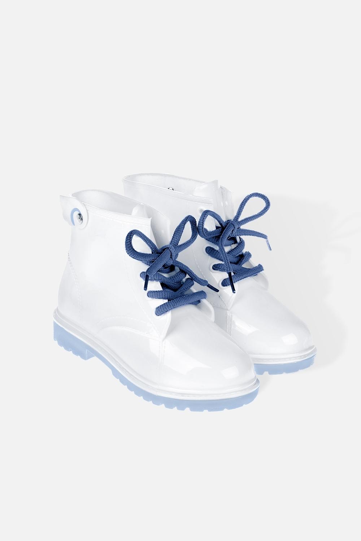 Ботинки резиновые детские Уайт энджлРаспродажа Black Friday<br>Материал: 100% ПВХ. Длина стельки 16.2 см.<br>