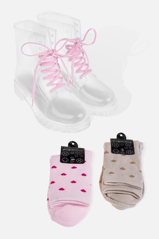 Ботинки резиновые женские СиаРаспродажа Black Friday<br>В комплекте с ботинками идут две пары хлопковых носков. Длина  стельки - 24.5см. Материал: ПВХ<br>