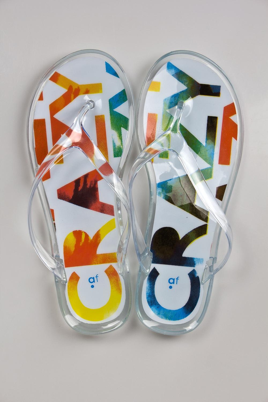 Шлепанцы КрейзиОдежда, обувь, аксессуары<br>Материал: 100% ПВХ<br>
