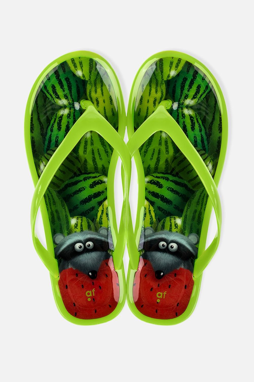 Шлепанцы резиновые Любитель арбузовОдежда, обувь, аксессуары<br>Материал: 100% ПВХ. Длина внутренней стельки - 25 см.<br>