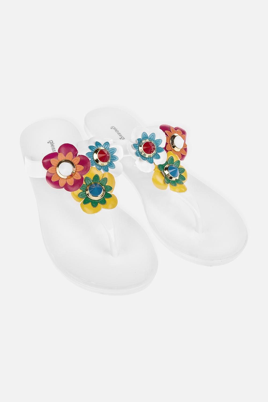 Шлепанцы ФлорисОдежда, обувь, аксессуары<br>Материал: 100% ПВХ. Длина внутренней стельки - 23,5 см.<br>