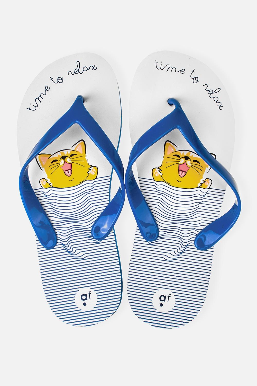 Шлепанцы женские Море-мяуОдежда, обувь, аксессуары<br>Материал верха: ПВХ. Материал стельки и подошвы: ЭВА. Длина стельки: 24,5 см.<br>