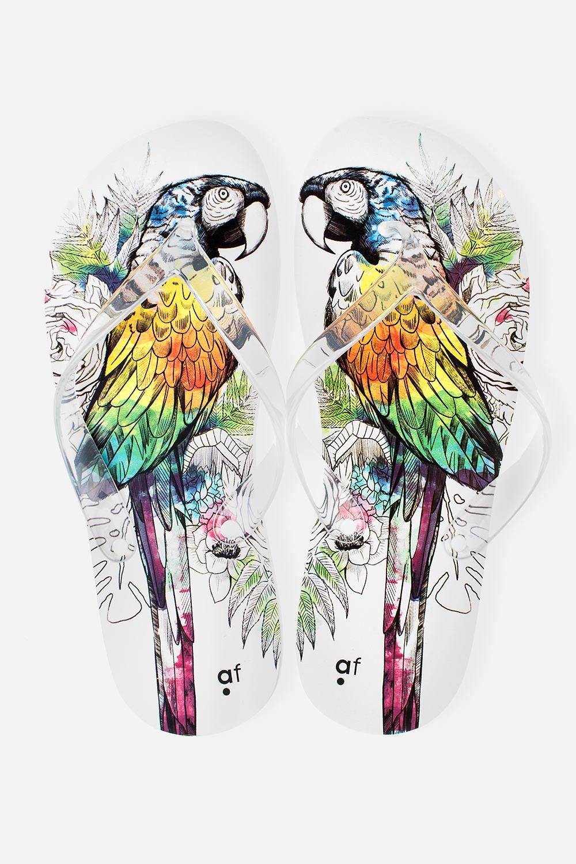 Шлепанцы женские ПопугайОдежда, обувь, аксессуары<br>Материал верха: ПВХ. Материал стельки и подошвы: ЭВА. Длина стельки: 27 см.<br>