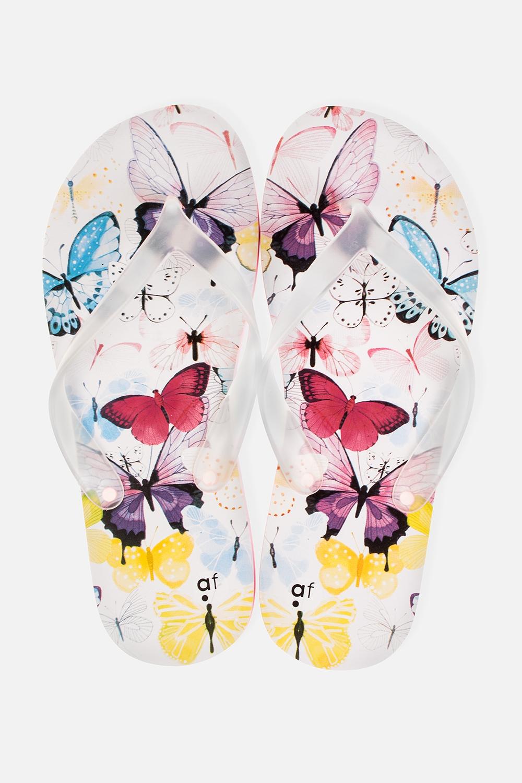 Шлепанцы Нежные бабочкиОдежда, обувь, аксессуары<br>Материал верха: ПВХ. Материал стельки и подошвы: ЭВА. Длина стельки: 27 см.<br>