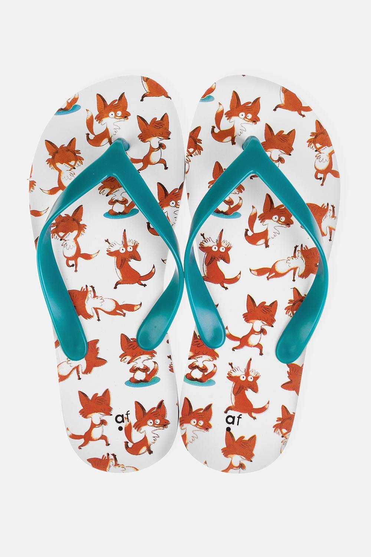 Шлепанцы Йога-лисыОдежда, обувь, аксессуары<br>Материал верха: ПВХ. Материал стельки и подошвы: ЭВА. Длина стельки: 26 см.<br>