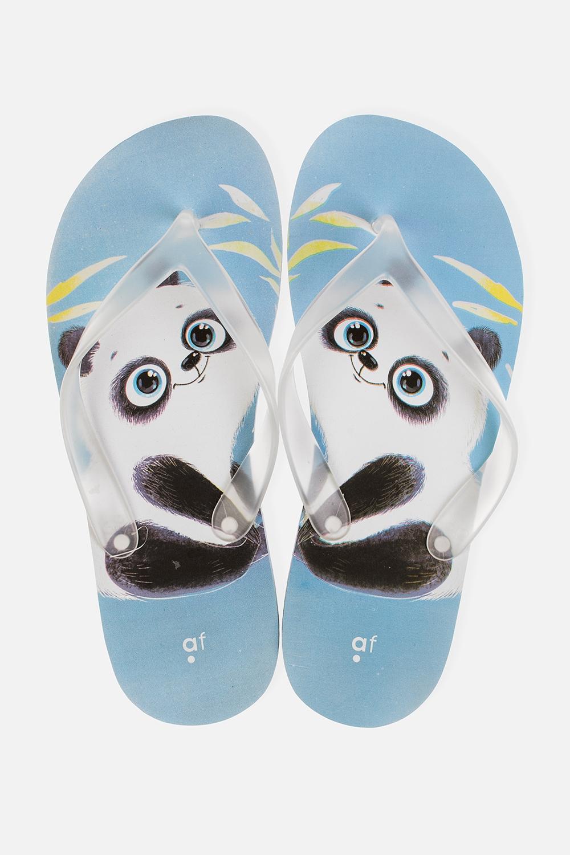 Шлепанцы Панда-милашОдежда, обувь, аксессуары<br>Материал верха: ПВХ. Материал стельки и подошвы: ЭВА. Длина стельки: 25,5 см.<br>