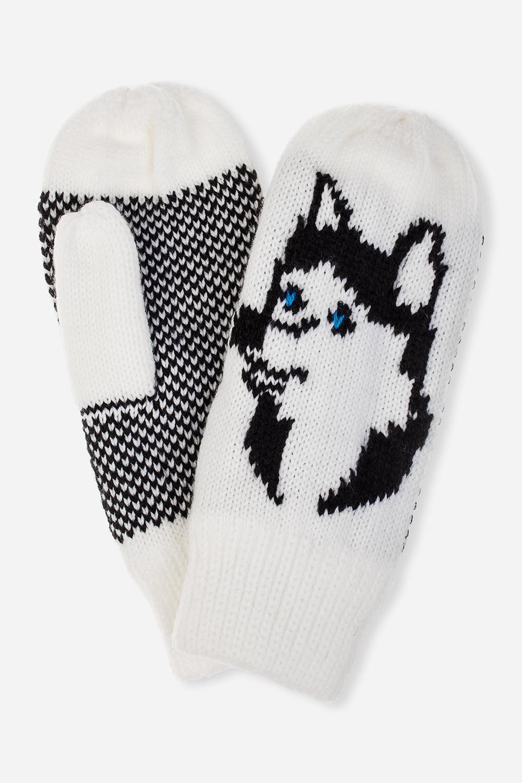 Варежки СобакаПодарки на Новый год 2018<br>Материал: 100% акрил. Подкладка из флиса.<br>