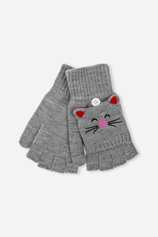 Перчатки-варежки детские МышкаМатериал: 100% акрил<br>