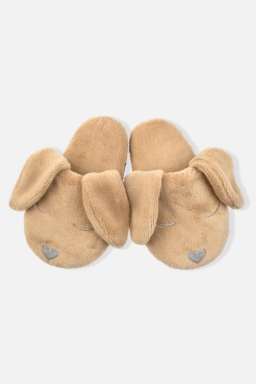 Тапочки домашние детские Сонные собачкиМатериал: 100% полиэстер.<br>