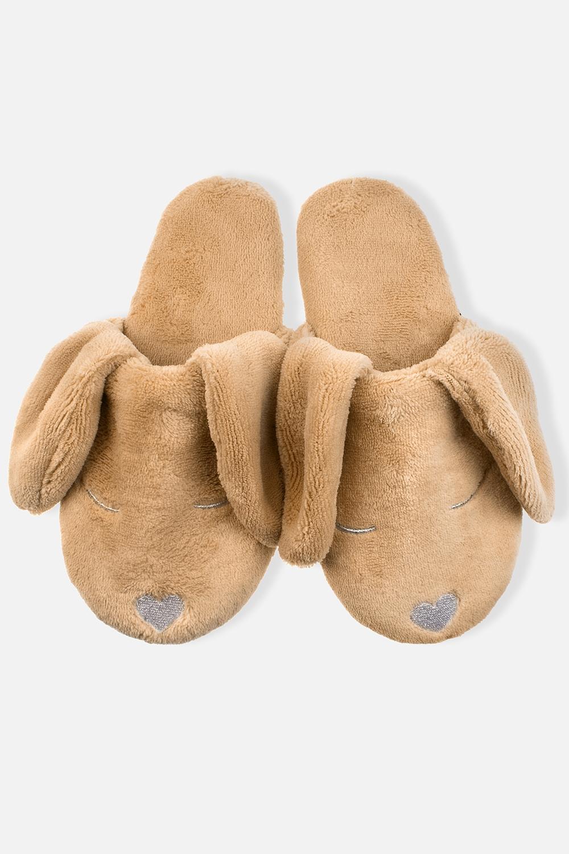 Тапочки домашние женские Сонные собачкиМатериал: 100% полиэстер.<br>