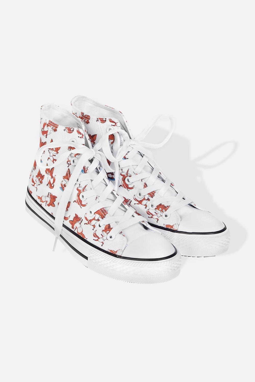 Кеды женские Йога-лисыОдежда, обувь, аксессуары<br>Материал: текстиль, резина. Длина внутренней стельки - 26 см.<br>
