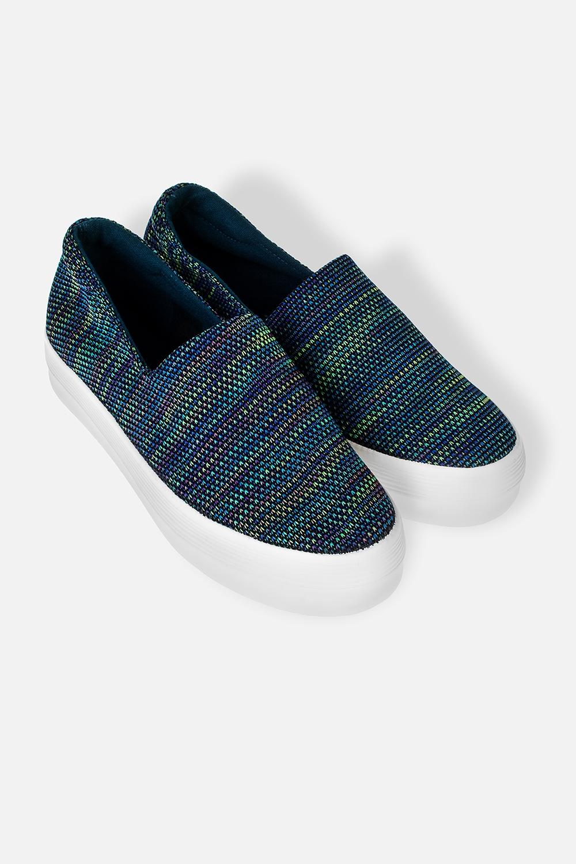 Слипоны женские БлумМатериал: текстиль, резина. Длина внутренней стельки - 23,7 см.<br>