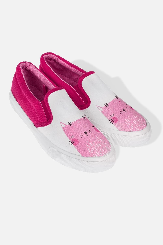 Слипоны женские Мяу-кисОдежда, обувь, аксессуары<br>Материал: текстиль, резина. Длина внутренней стельки - 24 см.<br>
