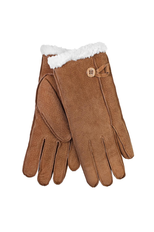 Перчатки ДарлингПодарки для женщин<br>Перчатки женские. Материал верха: натуральная замша. Подкладка: искусственный мех.<br>