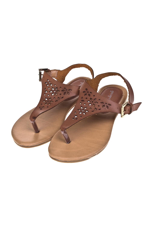 Сандалии женские СандраОдежда, обувь, аксессуары<br>Материал: искусственная кожа. Длина внутренней стельки - 24,5 см.<br>