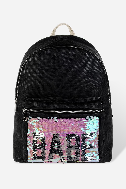 Рюкзак с пайетками БэйбПодарки на день рождения<br>Материал: текстиль, пайетки. Размер:  30*37см.<br>