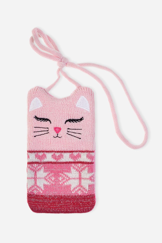 Чехол-сумочка для телефона КиттиМатериал: 100% акрил<br>