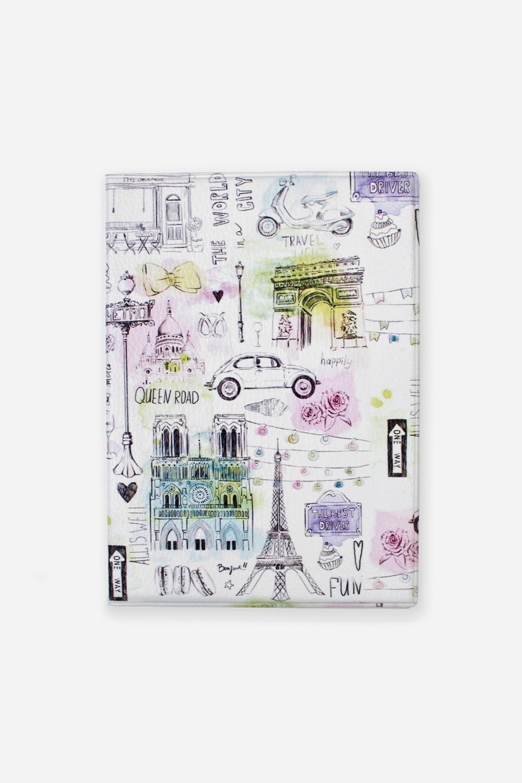Обложка для паспорта ТуристДача и Путешествия<br>Материал: искусственная кожа. Размер: 10*14см. Внутри обложки имеются два кармашка.<br>