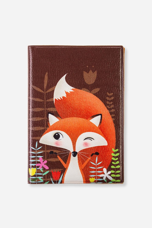 Обложка для паспорта ЛисуньяМатериал: искусственная кожа. Размер: 10*14см. Внутри обложки имеются два кармашка.<br>