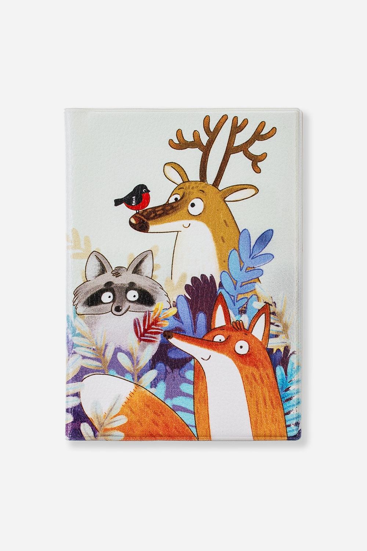 Обложка для паспорта Чудные зверикиДача и Путешествия<br>Материал: искусственная кожа. Размер: 10*14см. Внутри обложки имеются два кармашка.<br>
