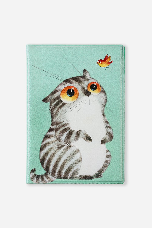 Обложка для паспорта Кот ГрейДача и Путешествия<br>Материал: искусственная кожа. Размер: 10*14см. Внутри обложки имеются два кармашка.<br>
