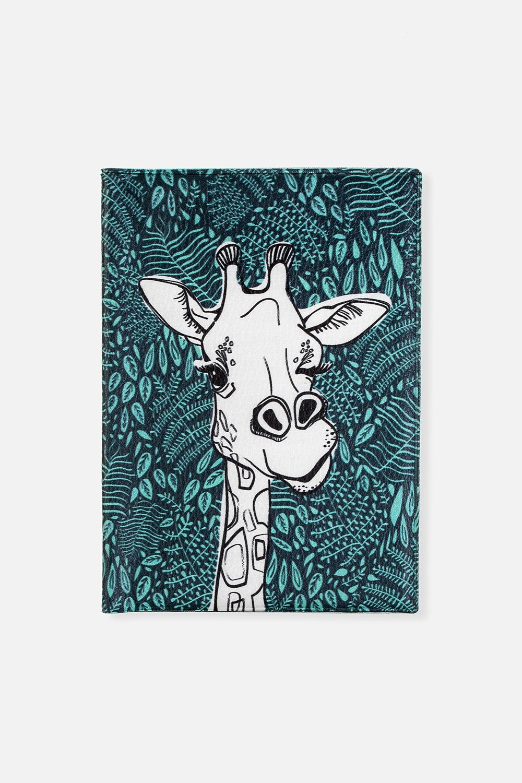 Обложка для паспорта Жираф МотяДача и Путешествия<br>Материал: искусственная кожа. Размер: 10*14см. Внутри обложки имеются два кармашка.<br>