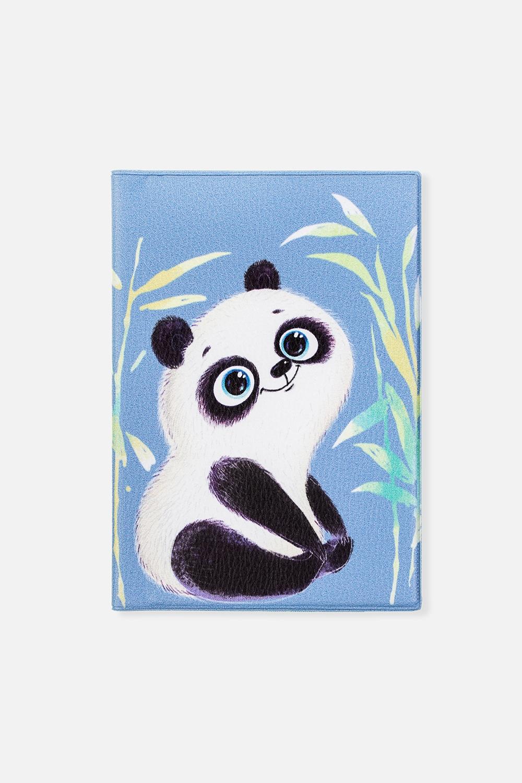 Обложка для паспорта Панда-милашДача и Путешествия<br>Материал: искусственная кожа. Размер: 10*14см. Внутри обложки имеются два кармашка.<br>