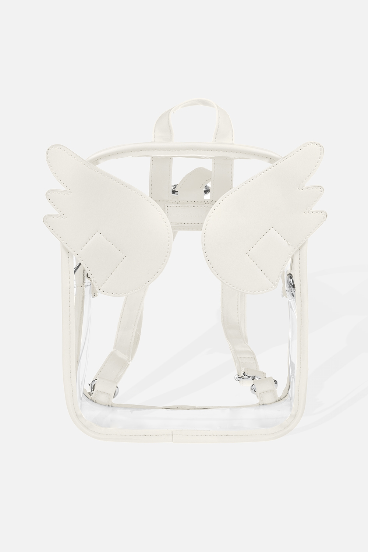 Рюкзак Мой ангелПодарки<br>Материал: ПВХ, искусственная кожа. Размер: 26*30см.<br>