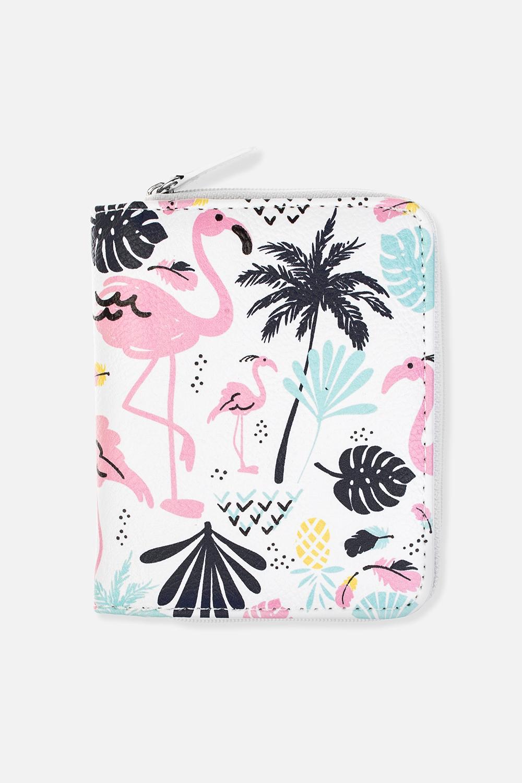 Кошелек Пальмы и фламингоПодарки<br>Материал: искусственная кожа. Размер: 10*12см.<br>