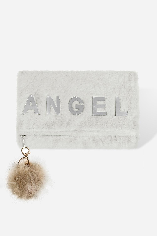 Сумка-клатч АнгелМатериал: искусственный мех. Размер: 32*20см.<br>