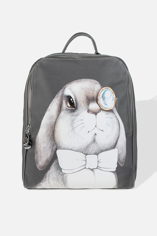 Рюкзак Мудрый заяцМатериал: искусственная кожа. Размер: 31*38cм.<br>