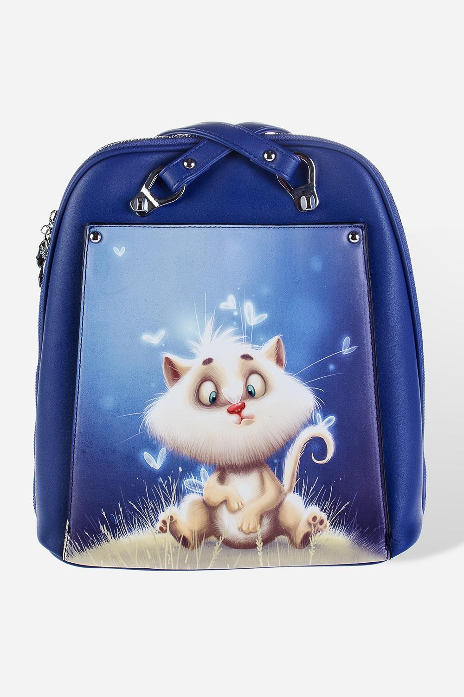 Сумка-рюкзак Кот в бабочкахУчеба и работа<br>Материал: искусственная кожа. Размер: 29*32см.<br>