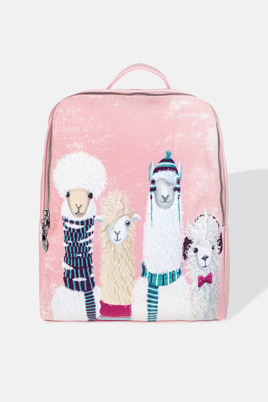 Рюкзак Ламы на стилеМатериал: искусственная кожа. Размер: 31*38см.<br>