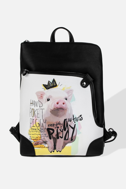 Рюкзак Принцесс ПигМатериал: искусственная кожа. Размер: 28*38см.<br>
