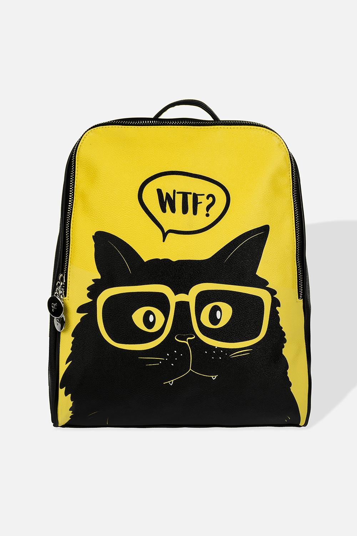 Рюкзак Озадаченный котПодарки на 8 марта<br>Материал: искусственная кожа. Размер: 31*38см.<br>