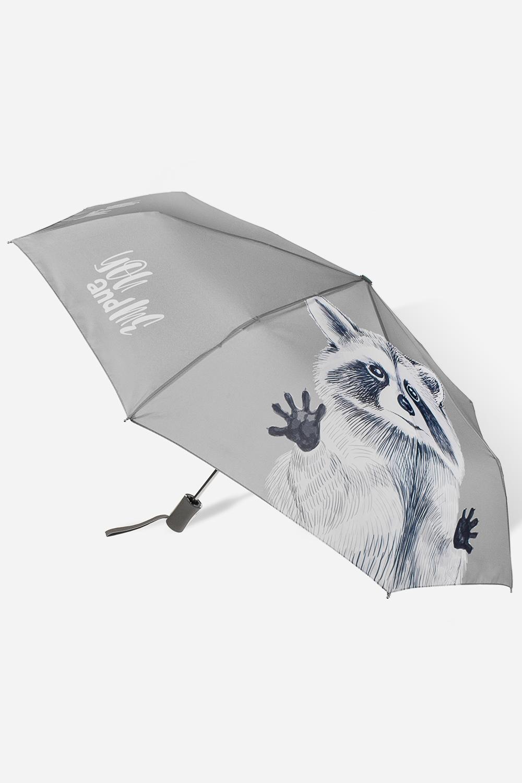 Зонт складной Енот-обнимашка зонт doppler 744765bc grey
