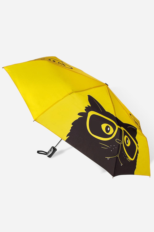 Зонт складной Озадаченный кот зонт женский isotoner ниагара 4 сложения полный автомат цвет черный