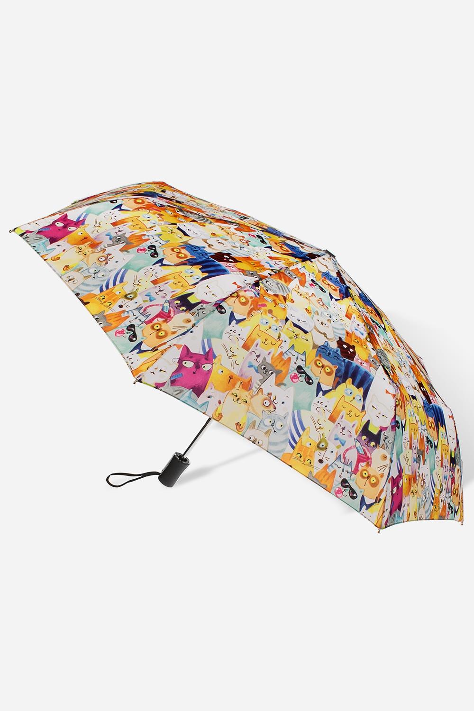 Зонт складной Котомания зонт женский isotoner ниагара 4 сложения полный автомат цвет черный