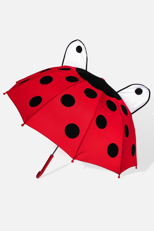 Зонт детский Божья коровкаПодарки<br>Зонт-трость детский механический. Материал: полиэстер. Выс=60см.<br>