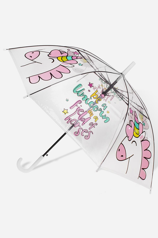 Зонт-трость Милый единорожкаПодарки<br>Зонт-трость полуавтомат. Материал: ПВХ. Выс=90см.<br>