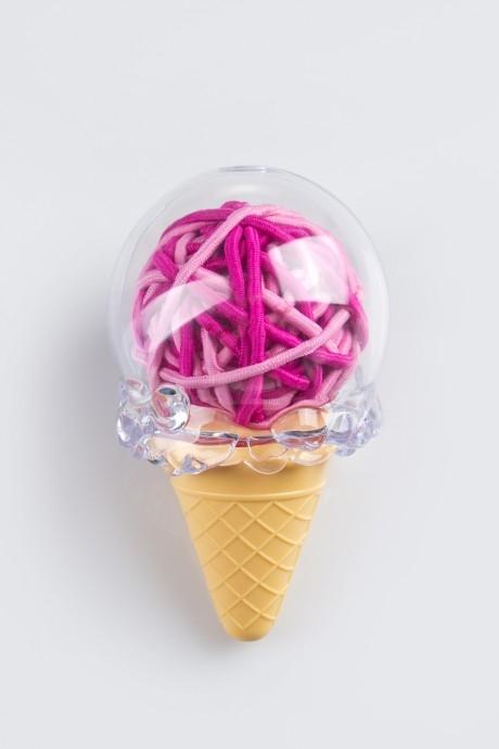 Набор резинок для волос Малиновое мороженоеПодарки<br>40-предм. текстиль<br>