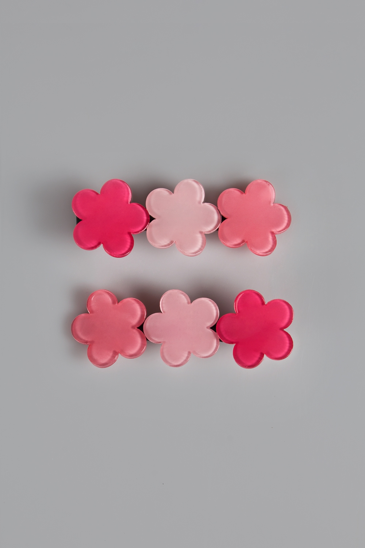 Набор заколок детских Три цветочкаРаспродажа Black Friday<br>Материал: пластик<br>